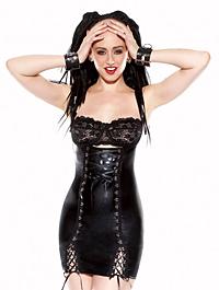 darque under bust corset dress
